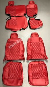 2011 2012 Jeep Wrangler Jk Custom Katzkin Leather Seat Covers Red Diamond