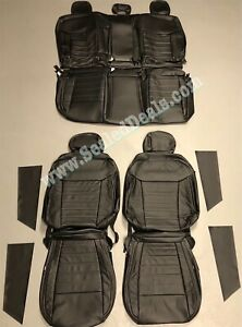 Ford Ranger Xlt Crew Cab Katzkin Black Leather Seat Replacement Covers 2019 2020