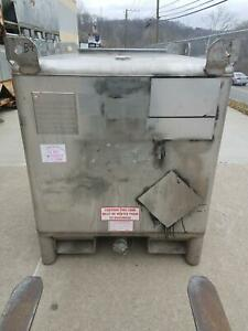 Used 350 Gallon Stainless Steel Tote Ibc Tank Precision Ibc Sku B4