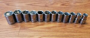 Blue Point 1 2 Drive Socket Set Of 12 6pt Metric 12m 24m Metric