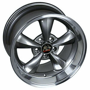 Anthracite 18 Rim W Machined Lip Mustang Bullitt Style Wheel 18x10