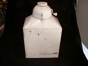 Hoosier Style Flour Sifter Container With Crank Mechanism