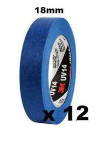 3m Industrial Uv Resistant Multi Surface Masking Tape 18mm X 55m X 12 Uv14