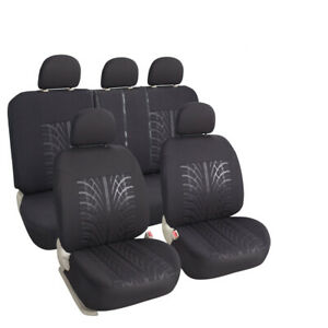 Auto Car Seat Covers Full Set Front Rear Seat Protector Universal For Truck
