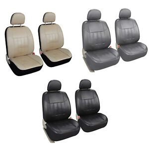 Universal 2 Faux Leather Seat Covers Cushion For Car Truck Suv Front Seat