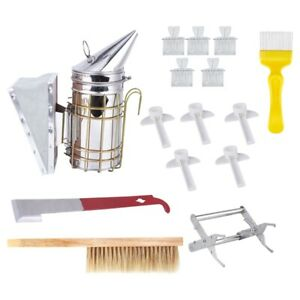 1x 1 Set Beekeeping Tools Kit bee Hive Smoker Beekeeping Accessory bees5y8