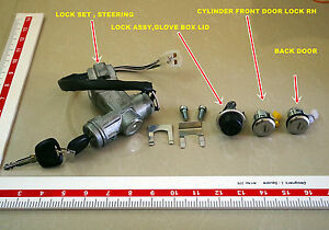 Lock Set Ignition Doors Glove Box 2 Keys Oem Suzuki Samurai 86 95