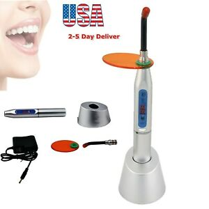 Fda 10w Wireless Cordless Dental Led Curing Light Lamp Machine 2000mw Usa Silver