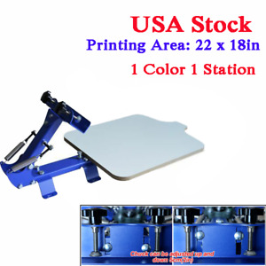 Usa Stock New 1 Color 1 Station T shirt Silk Printing Screen Machine