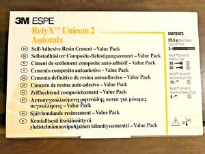 3m Espe 56857 Relyx Unicem 2 Automix Value Triple Pack A3 15 Syringe Lot 5 Box