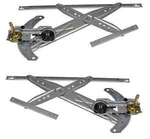 96 00 Honda Civic 2 Door Manual Window Regulator Pair Set Both