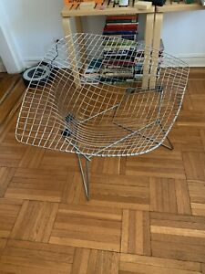 Genuine Harry Bertoia Diamond Chair Mcm Midcentury Modern