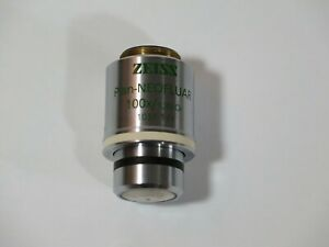 Zeiss Plan neofluar 100x Oil Immersion Microscope Objective Lens Ph3