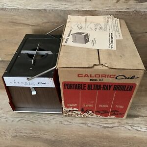 Vintage Caloric Cub Ultra Ray Portable Propane Gas Camp Stove Broiler U 1 In Box