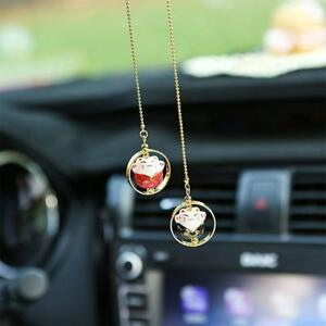 Lucky Cat Car Pendant Chinese Ceramic Car Hanging Ornament Car Interior Decor Hs
