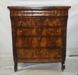 Flame Mahogany 3 Over 4 Empire Men S Tall Chest Dresser