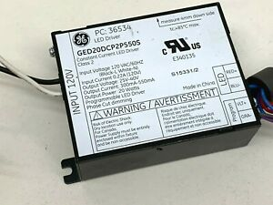 Ge 36534 Ged20dcp2p550s 20 watt Programmable Dimming Led Driver 300 550ma 120v