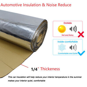 Sound Deadening Heat Shield Insulation Car Noise Reduce Adhesive Mat 50 X 39