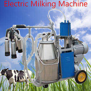 Electric Milking Machine For Farm Cows Bucket Bucket Automatic Vacuum Pump Us