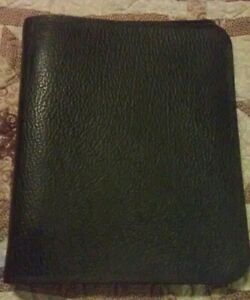 Vtg Leather Trapper Binder File Folder 1940 s Talon Zipper Student Lawyer Doctor