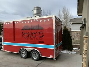Food Truck Food Trailer Concession Stand Concession Trailer Red Trailer Red