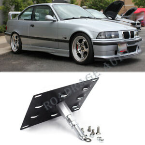 Tow Hook Hole Cover License Plate Bracket Mount Holder For 92 98 Bmw E36 3series
