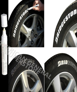 1pc White Paint Pen Marker Waterproof Permanent Car Tire Rubber Oil Based Letter