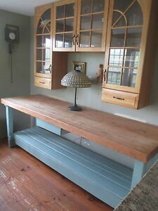 Chopping Block Table Kitchen Center Island Vtg Delivery Possibility Zip Code
