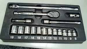 Snap On 17 Pc 1 4 Drive 6 Point Metric General Starter Service Set 117tmm