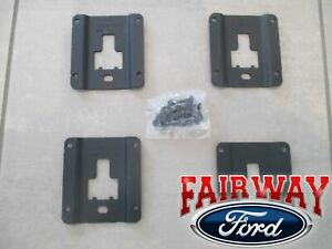 15 Thru 19 Super Duty Oem Ford Tie Down Bed Cleat Standard Interface Plate Kit