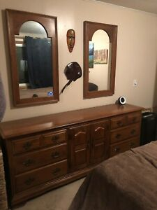 Antique Dresser 1966 Heywood Wakefield Nightstand Mirrors