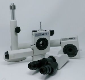 Nikon Microscope Dual Head Bridge Teaching Kit With Pointer Binocular Head