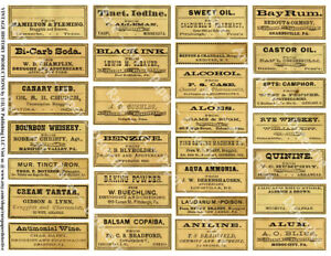 28 Apothecary Labels Sticker Sheet Druggist Labels For Bathroom