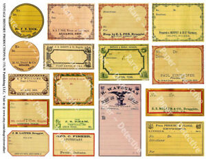 17 Druggist Labels Sticker Sheet Apothecary Labels Drug Store Pharmacy Decor