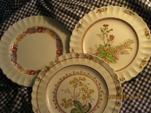 Spode Marked Down Copeland Ruffled Wicker 10 1 2 Set Of Three Dinner Plates
