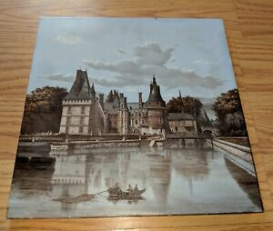 H Boulenger Choisy Le Roi Antique French Faience Scenic Tile 19th Century