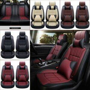 5 seat Suv Car Seat Cover Pu Leather Protector Headrest cushion Seat Gap Padding