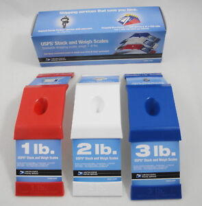 Usps Stack And Weigh Stackable Shipping Scales 1 6 Lbs Red White Blue 23140037