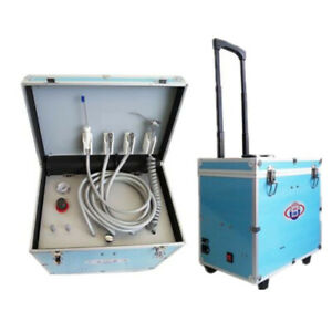 Portable Dental Turbine Unit Air Compressor Suction System 402c