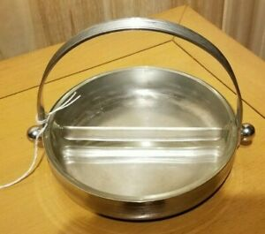 Chase Art Deco Chrome Divided Candy Nut Dish Designer Piece 1930 S