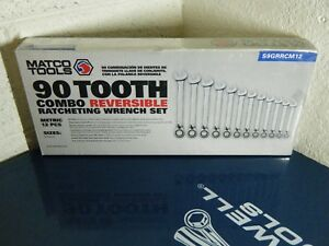 Matco Tools 90 Tooth Ratcheting Reversible Wrench Set 8 19mm New S9grrcm12