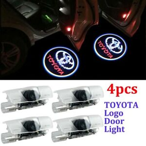 4pcs Led Car Door Light Logo Courtesy Projector Ghost Shadow Light For Toyota