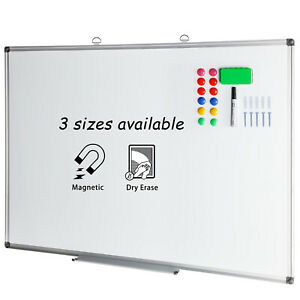 48x36 Magnetic Dry Erase Board Wall Mounted Aluminium Framed White Board