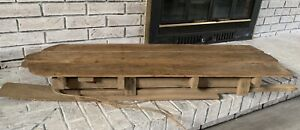 Vintage Antique Hand Made Wood Snow Sled Primitive Old Barn Farm House Decor