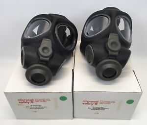 2 Micronel Safety M95 Full Face Respirator Nbc Gas Mask Military Police Regular