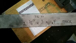 316 Stainless Steel Plate 21 3 4 3 4 Thick