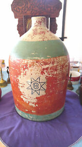 1800 S Bee Hive Salt Glazed Cobalt Blue Star 3 Gallon 1 Quart Moon Shine Jug Pri