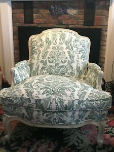 Oversized Vintage French Bergere Chair