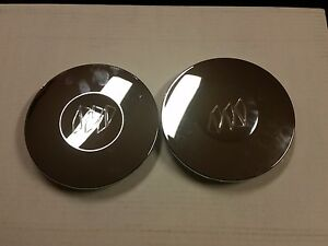 2pcs 1997 2000 Buick Park Avenue 2002 Lesabre Center Wheel Hub Cap Cover Chrome