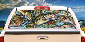 Action Fish Puzzle Rear Window Graphic Truck View Thru Vinyl Decal Back